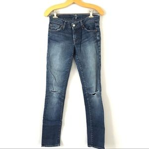 7FAM |. Roxanne Ankle Skinny Distressed Jeans 26
